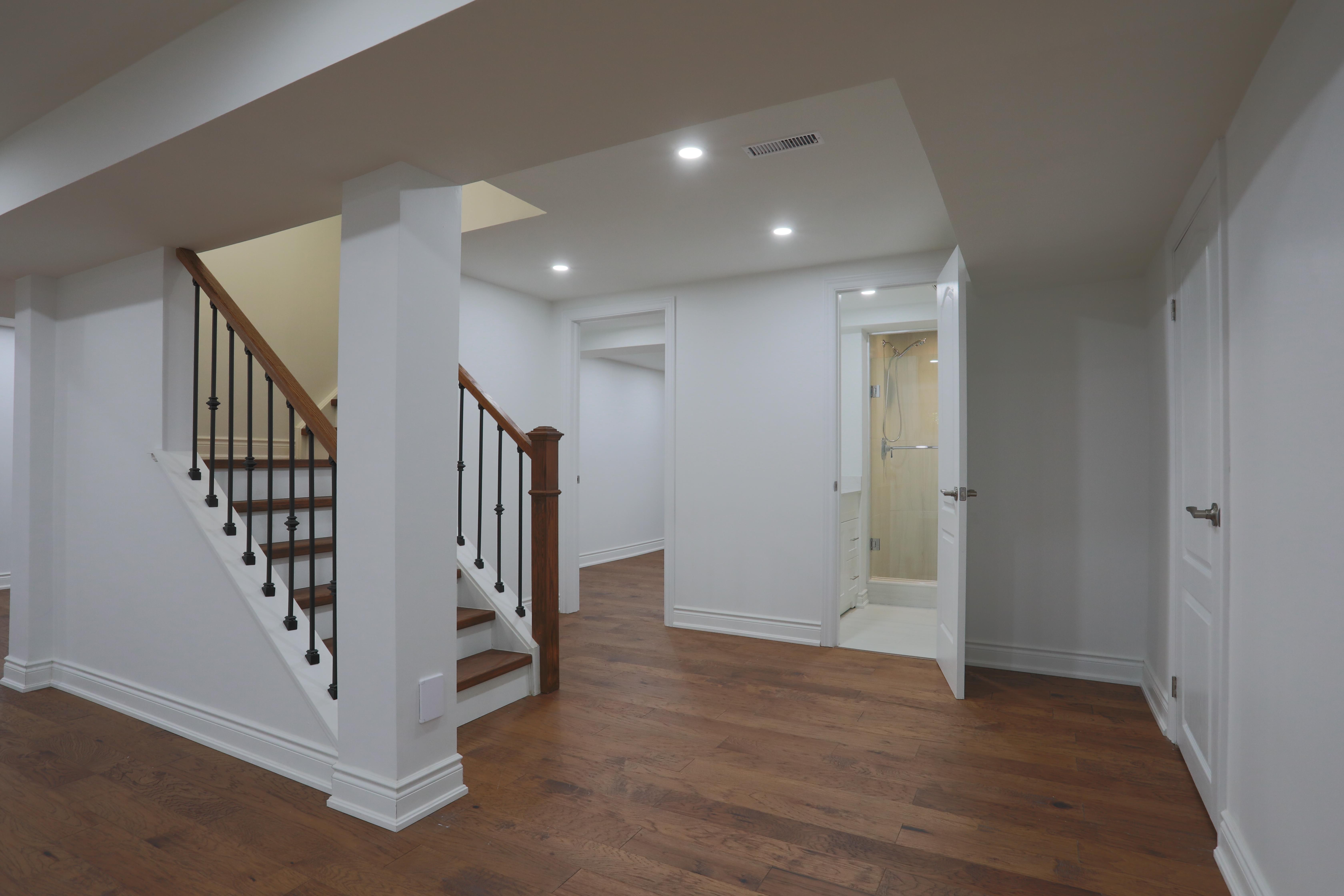 Full Basement Renovation Loghouse